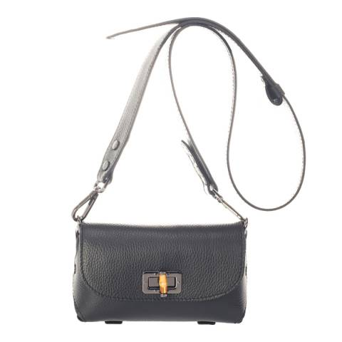 Lisa Minardi Black Leather Crossbody Bag