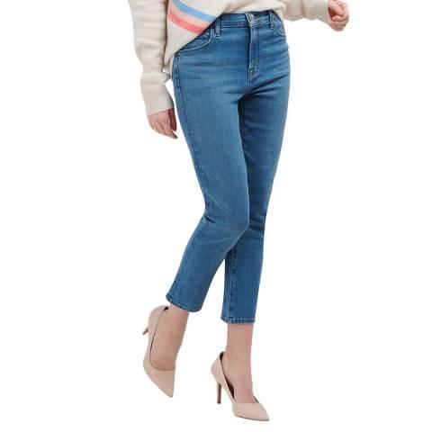 J Brand Indigo Ruby Crop Cigarette Stretch Jeans