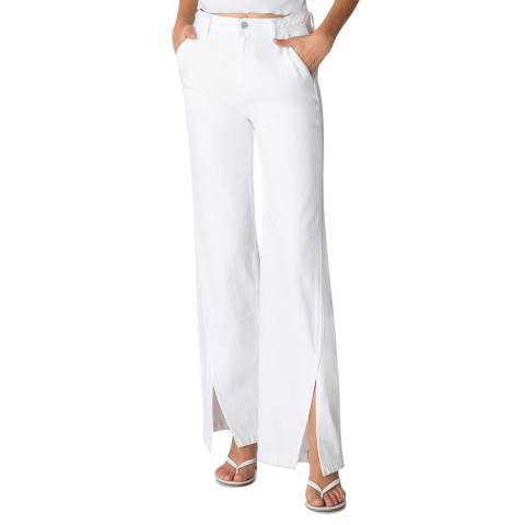 J Brand White Braided Joan Trousers
