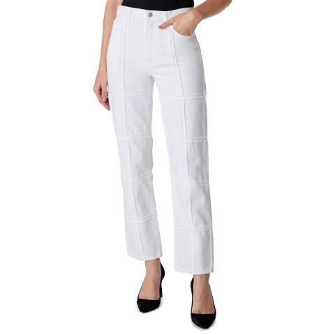 J Brand White Jules High Rise Straight Jeans