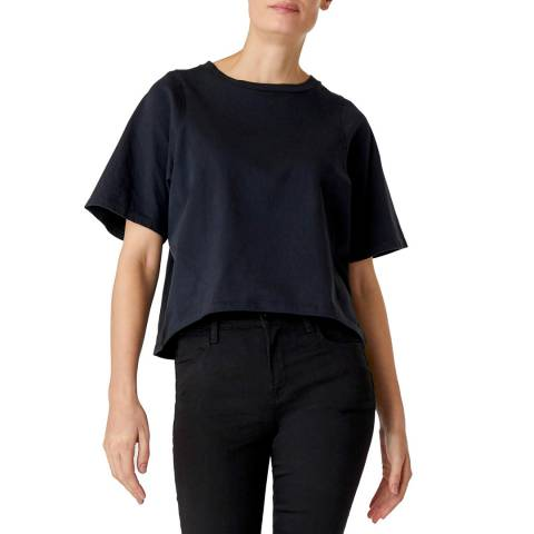 J Brand Black Lillie Shrunken T-Shirt