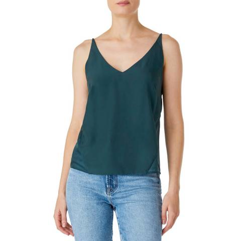 J Brand Green Lucy Silk Cami Top