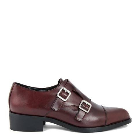 LAB78 Burgundy Leather Oxford Shoes
