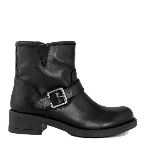 LAB78 Black Leather Ankle Boot