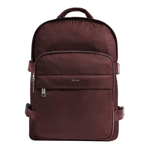 Reiss Bordeaux Mini Harrison Nylon Backpack