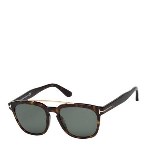 Tom Ford Men's Dark Havana/Green Tom Ford Sunglasses 54mm