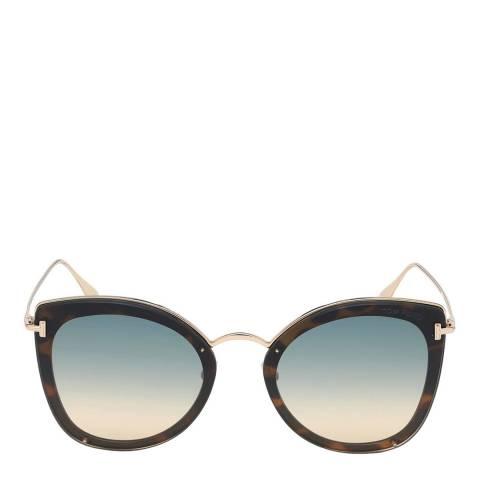 Tom Ford Women's Blonde Havana/Green Tom Ford Sunglasses 62mm