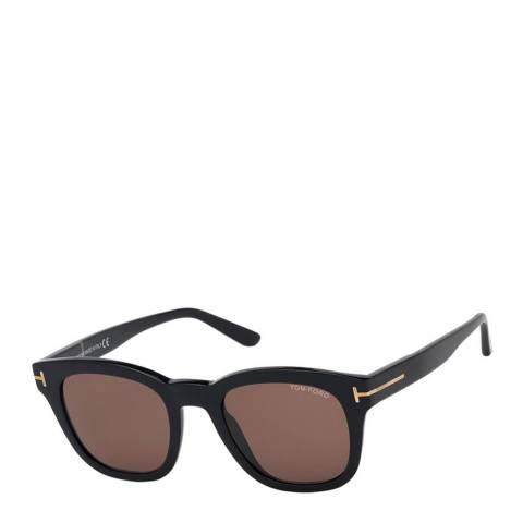 Tom Ford Men's Shiny Black/Brown Tom Ford Sunglasses 52mm
