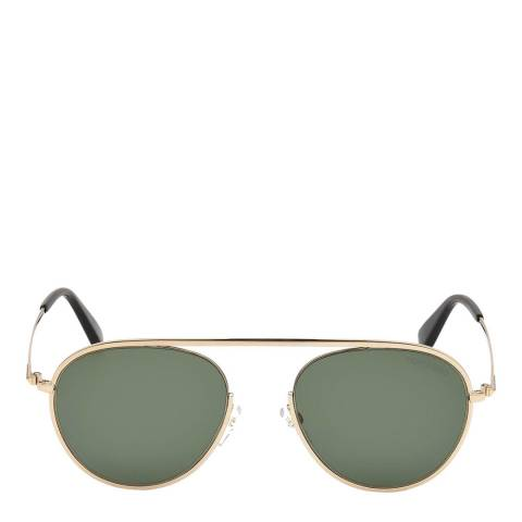 Tom Ford Unisex Shiny Rose Gold/Green Tom Ford Sunglasses 55mm