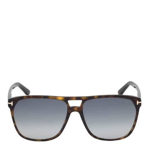 Tom Ford Men's Dark Havana/Blue Tom Ford Sunglasses 59mm