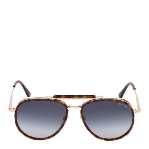 Tom Ford Men's Red Havana/Blue Tom Ford Sunglasses 58mm