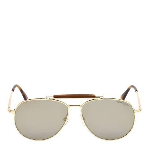 Tom Ford Men's Shiny Rose Gold/Smoke Tom Ford Sunglasses 60mm