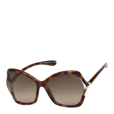 Tom Ford Women's Blonde Havana/Brown Tom Ford Sunglasses 61mm
