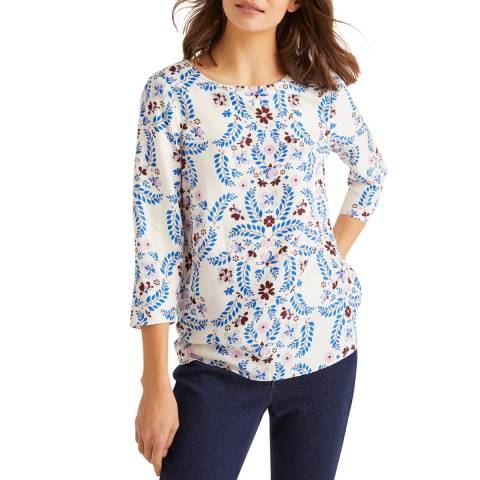 Boden White Nadine Top