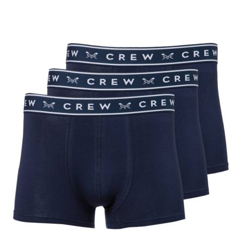 Crew Clothing Navy 3 Pack Solid Boxers