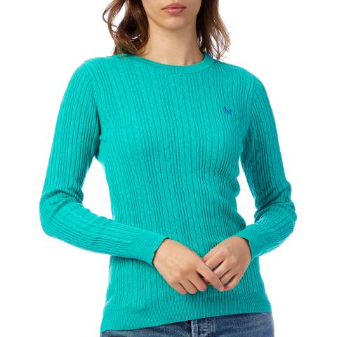 Crew Clothing Green Cotton Cable Crew Jumper