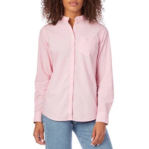 Crew Clothing Pink Chambray A Line Shirt