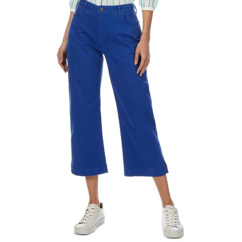 Crew Clothing Blue Wide Leg Ankle Trouser