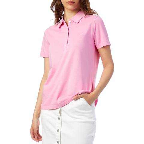 Crew Clothing Pink Pigment Dyed Polo Shirt