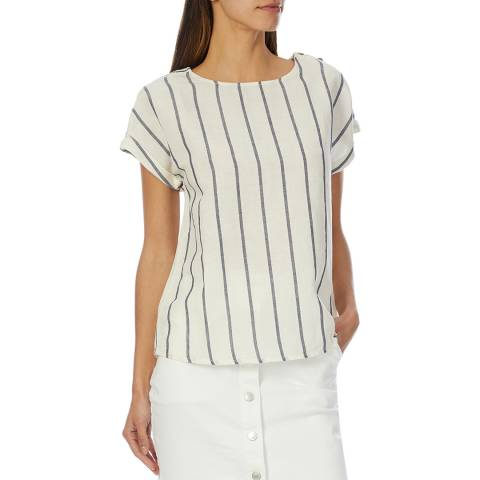 Crew Clothing Stripe Linen T-Shirt