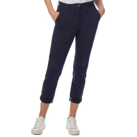 Crew Clothing Navy Chino Trousers