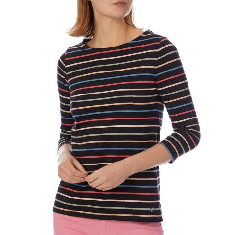 Crew Clothing Multi Cassie Stripe Cotton T-shirt
