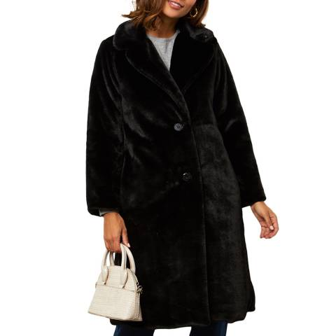 Comptoir du Manteau Black Luxury Midi Coat
