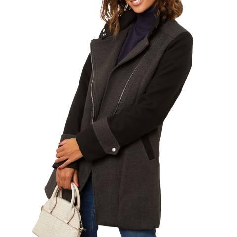 Comptoir du Manteau Grey Wool Blend Coat