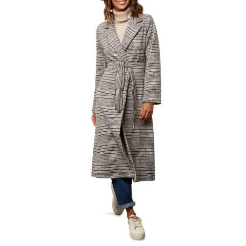 Comptoir du Manteau Beige Wool Blend Long Coat