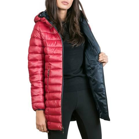 Comptoir du Manteau Red Light Weight Puffer Coat