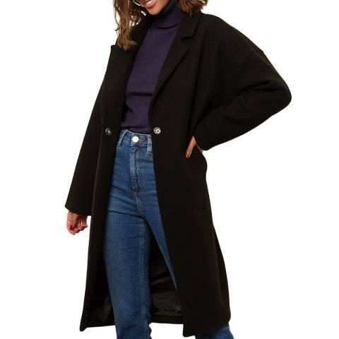 Comptoir du Manteau Black Wool Blend Midi Coat