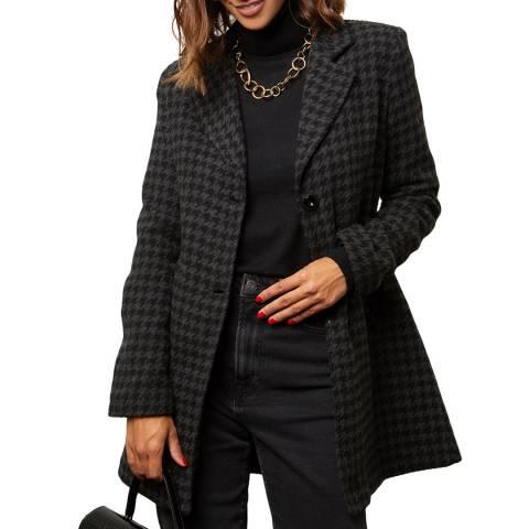 Comptoir du Manteau Grey Wool Blend Fitted Coat