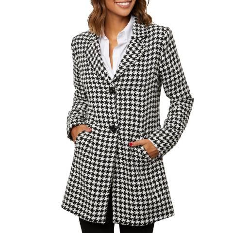 Comptoir du Manteau White Wool Blend Fitted Coat