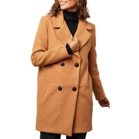 Comptoir du Manteau Camel Wool Blend Masculine Coat