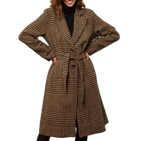 Comptoir du Manteau Brown Wool Blend Coat