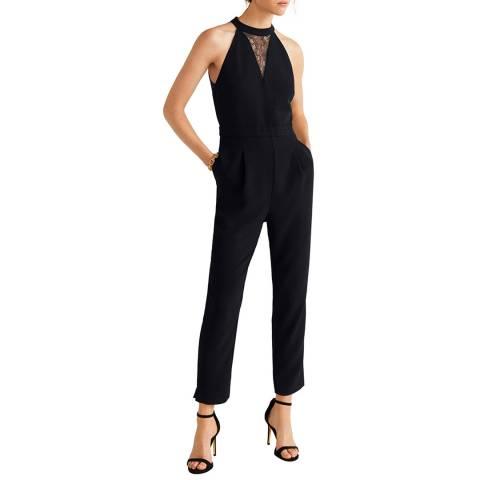 Mango Black Lace Long Jumpsuit