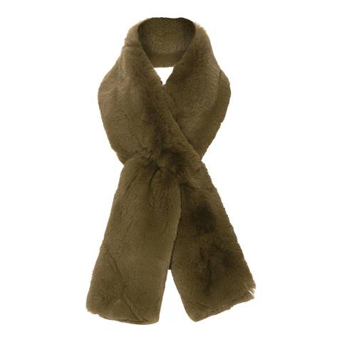 JayLey Collection Green Faux Fur Scarf