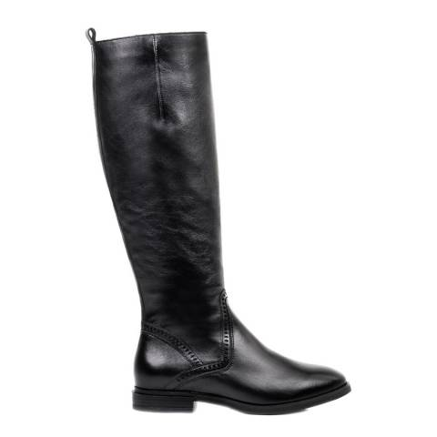 Belwest Black Leather High Boots