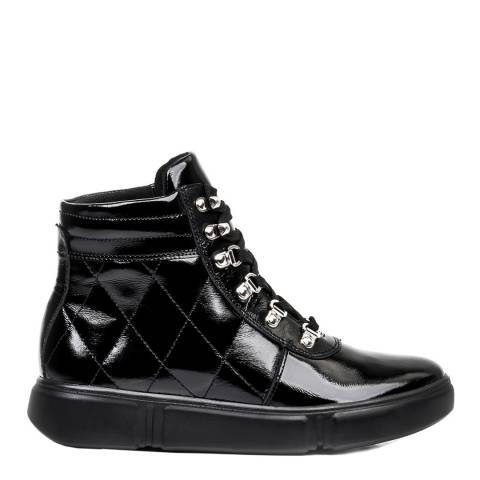 Belwest Black Patent Ankle Boot