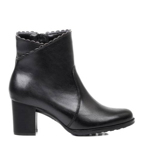 Belwest Black Leather Ankle Boot
