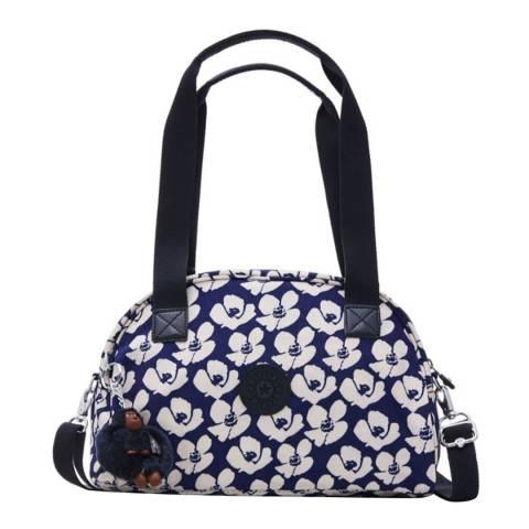 Kipling Blue Bold Flower Havi Medium Bag