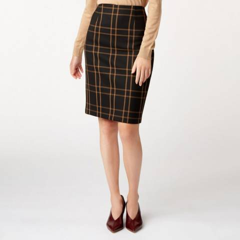 Hobbs London Black Check Florina Skirt