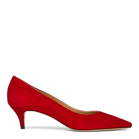 Hobbs London Red Annie Court Heeled Shoes