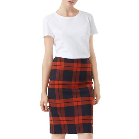 Hobbs London Red Check Riley Skirt