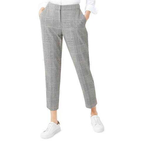 Hobbs London Grey Check Anthea Trousers