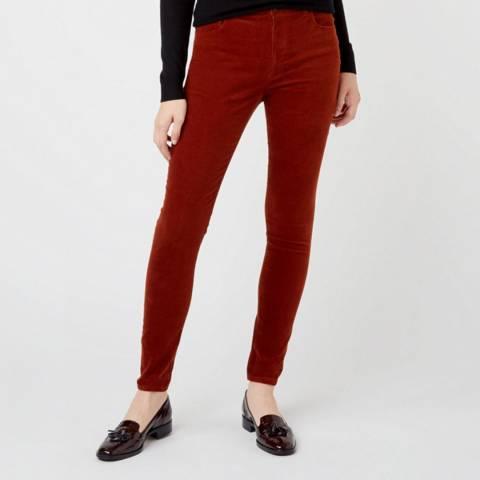 Hobbs London Red Velvet Marianne Jeans