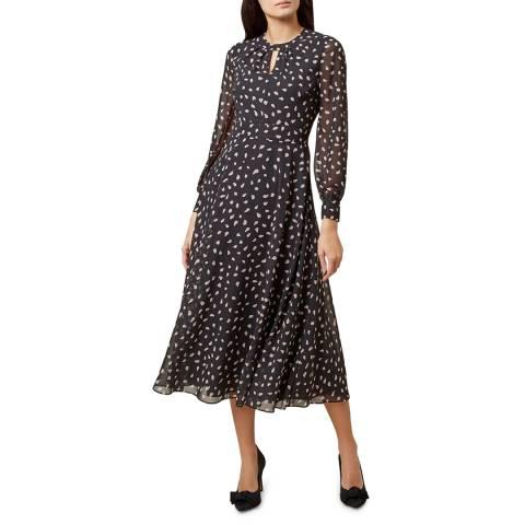 Hobbs London Black Print Quinn Dress
