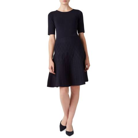 Hobbs London Navy Orla Knitted Dress