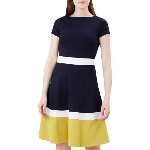 Hobbs London Navy Stripe Seasalter Dress