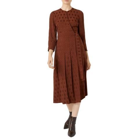Hobbs London Rust Hazel Dress